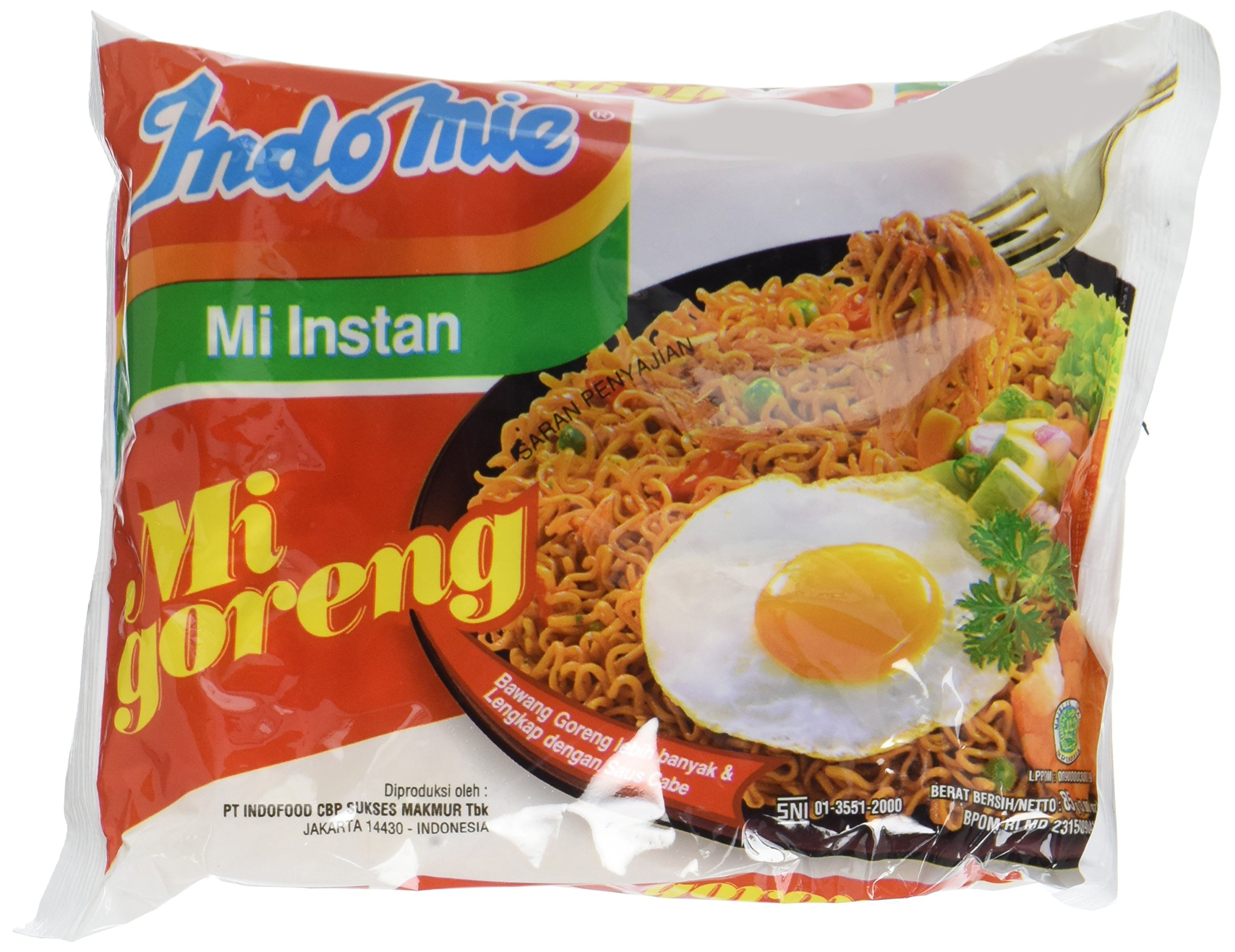 Indomie Mi Goreng Instant Noodle 3 oz - (Pack of 30) (Packaging May Vary)