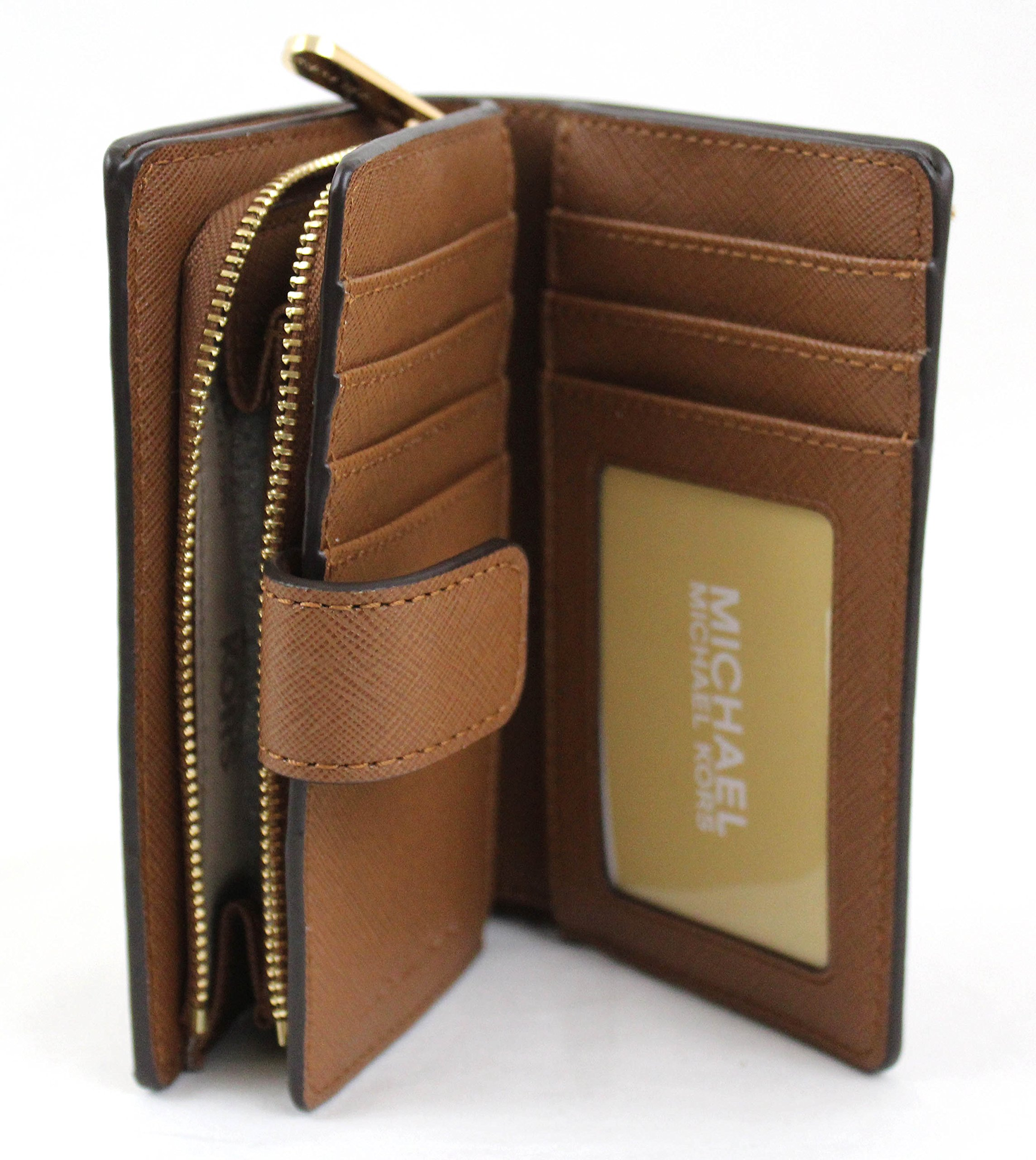 MICHAEL Michael Kors Jet Set Travel Bifold Zip Coin Wallet (Luggage) by Michael Kors (Image #4)