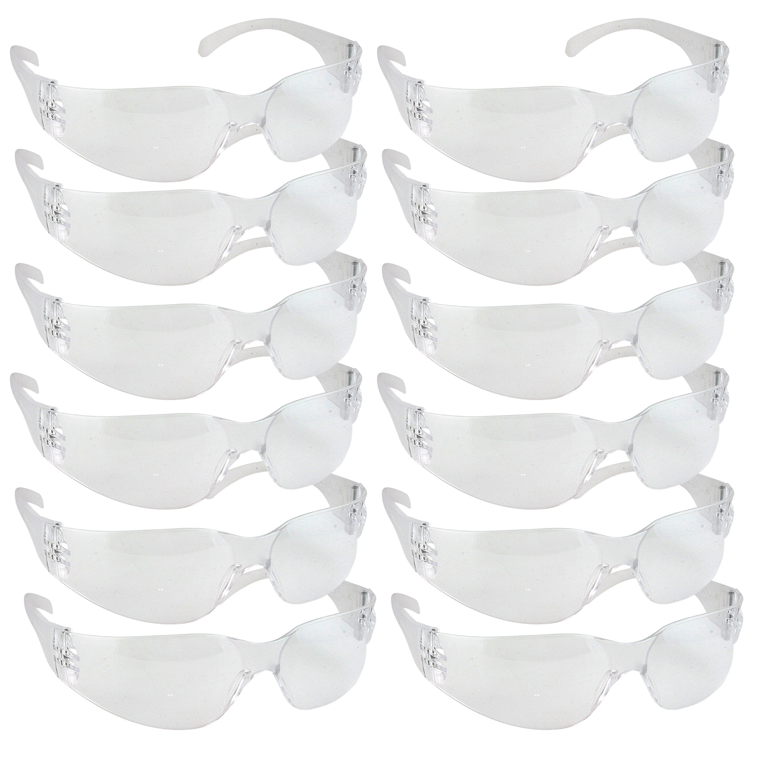 Safety Glasses, One Size, Clear Lens (Pack of 144)($0.90/Each)