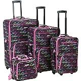 Rockland Luggage 4 Piece Luggage Set, Heart, One Size