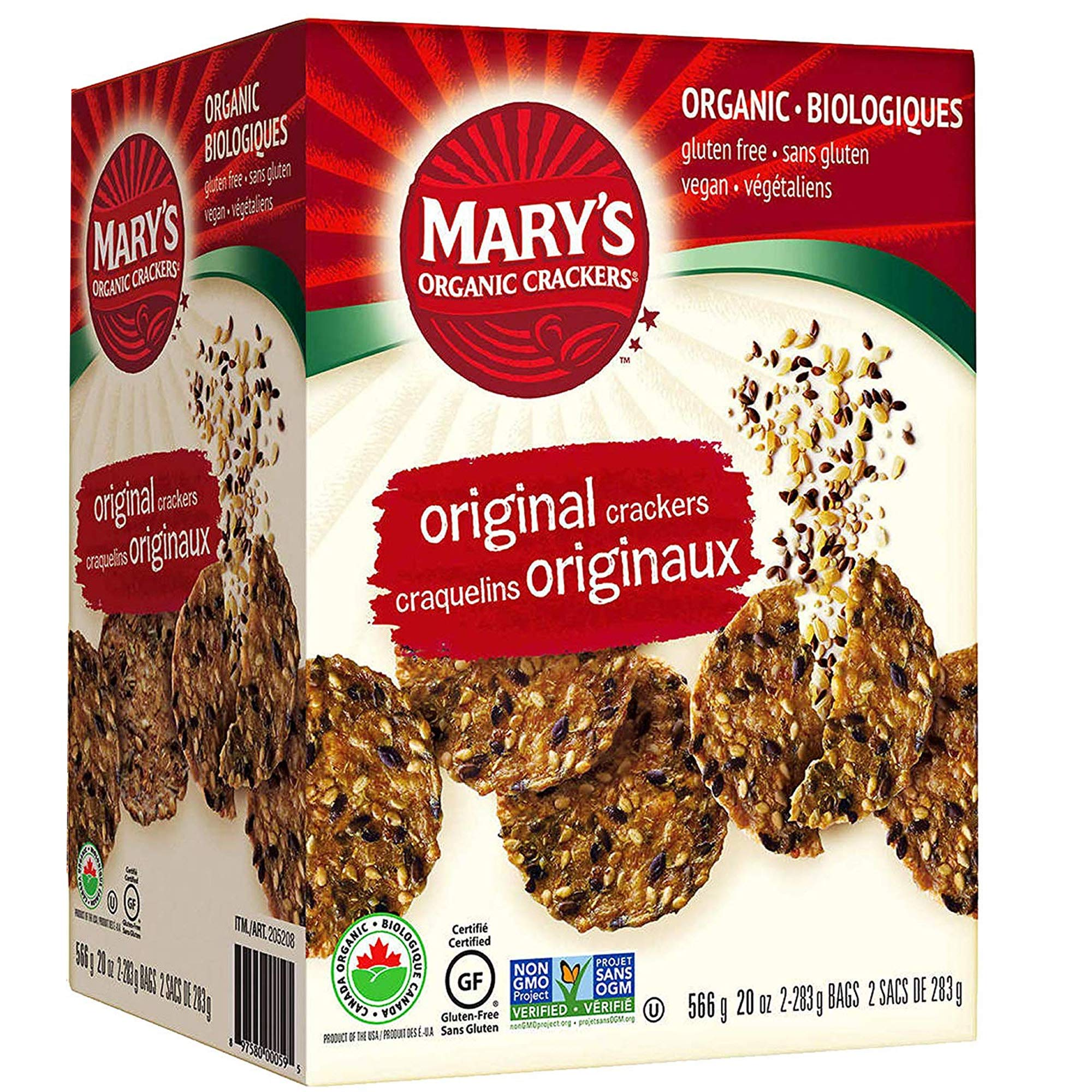 Mary's Gone Crackers Original, Vegan Whole Grain Crackers - 20 Ounce / 566 Grams (Gluten Free)