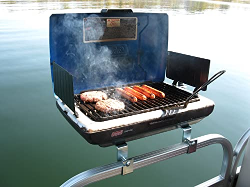 Portable <span>Pontoon Boat Grill</span> (Marine Boat Bbq Grill Mount) [Arnall's] Picture
