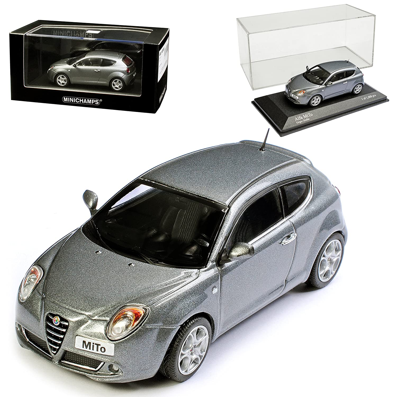 Minichamps Alfa Romeo Mito Grau Metallic Ab 2008 1/43 Modell Auto mit individiuellem Wunschkennzeichen