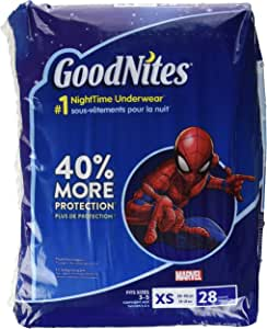 GoodNites Bedtime Bedwetting Underwear for Boys, X-Small, 28 Ct. (Packaging May Vary)