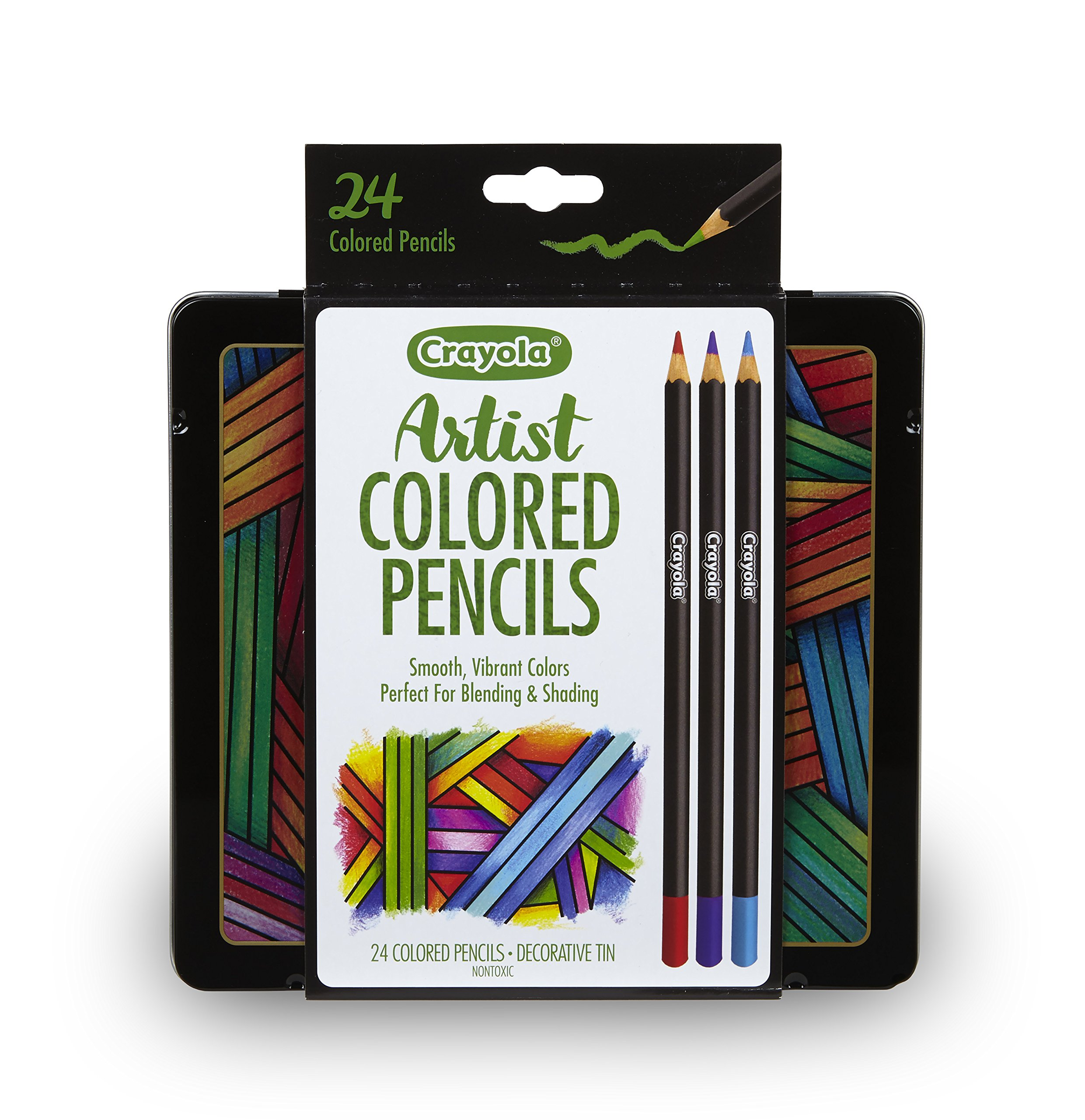 Crayola Artist Gel Colored Pencils Set, Professional Coloring Kit, Adult Coloring, 24Count, Gift, Assorted