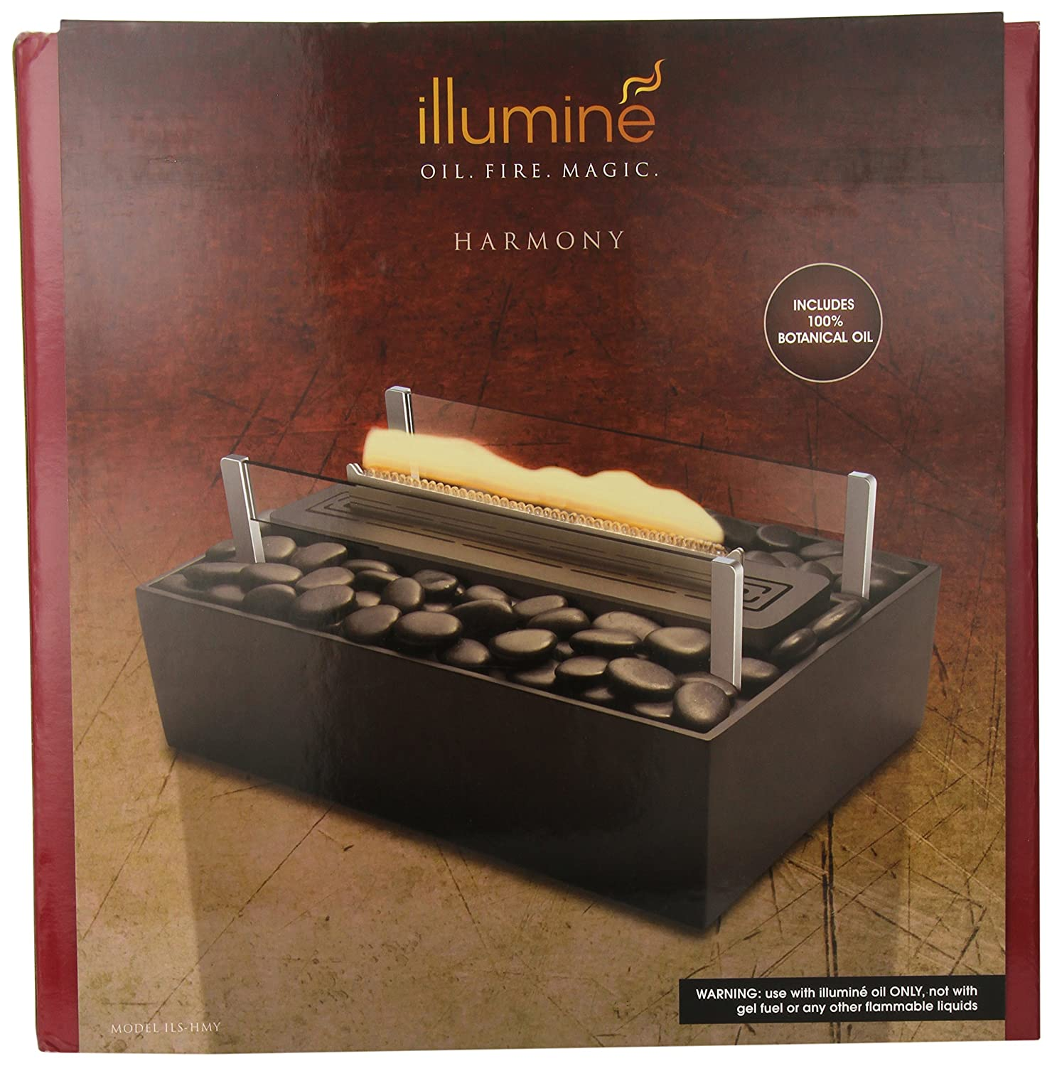 amazon com homedics illumine harmony luminous tabletop fireplace