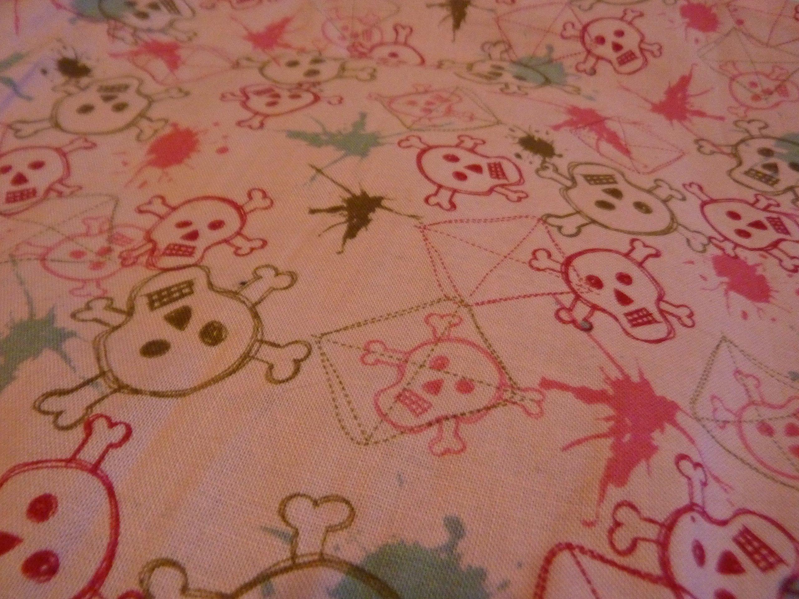 Pink Nursing Pillow Cover Skull Graffiti