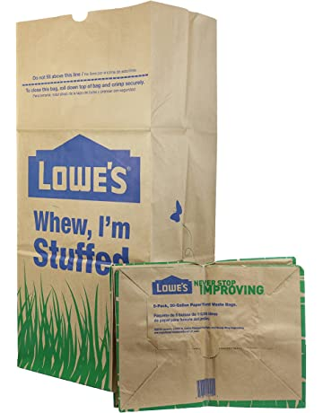 042d492c59d Lowe s 30 Gallon Heavy Duty Brown Paper Lawn and Refuse Bags for Home and  Garden (