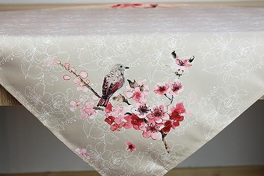 Kamaca Serie Vogel UND Blumen Druck-Motiv in pflegeleichter strapazierfähiger Qualität EIN Schmuckstück zu jeder Jahreszeit (