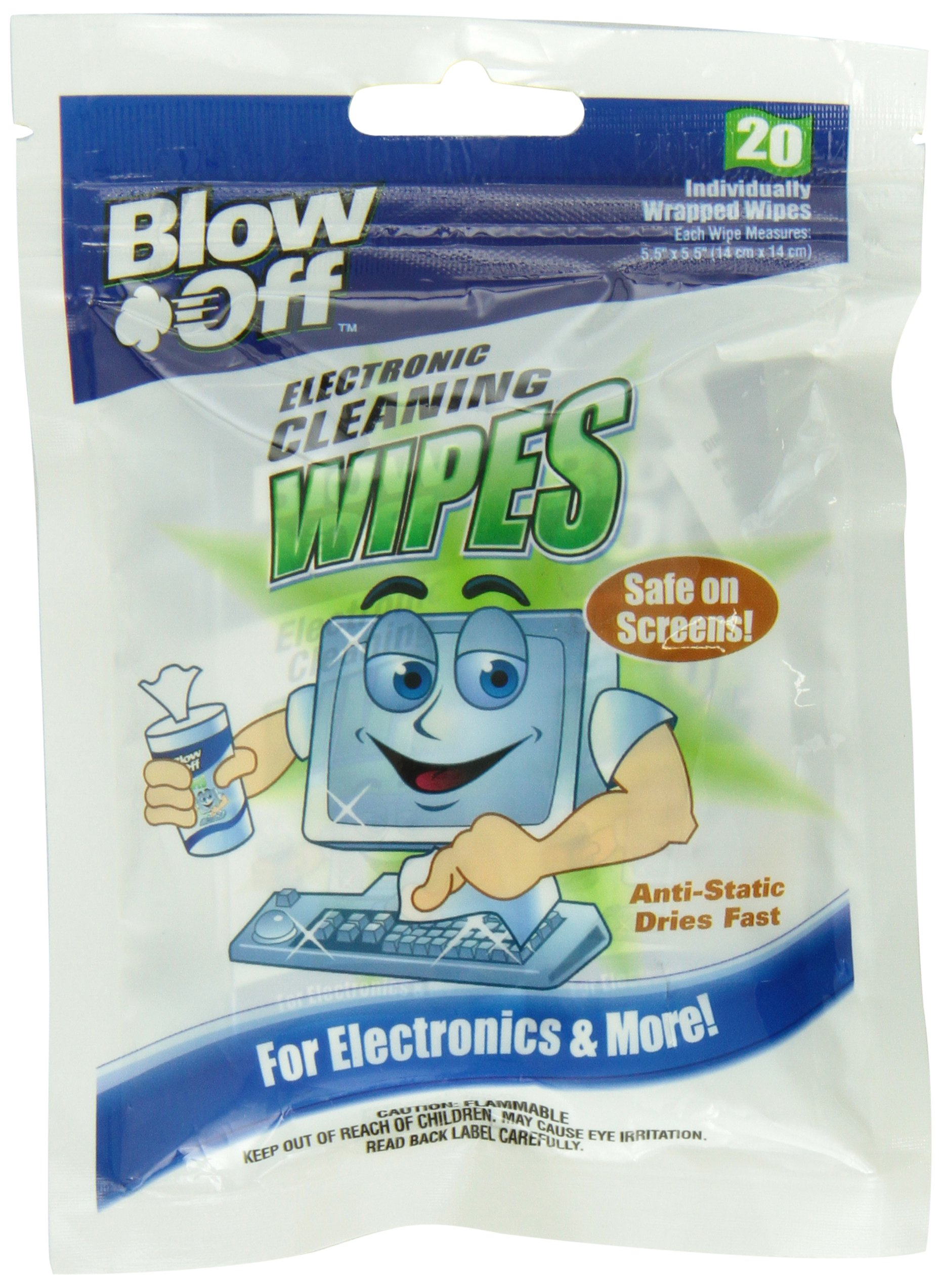 Blow Off WPB20-2620 Electronic Cleaning Wipe - 20-Count Bag, (Case of 24)