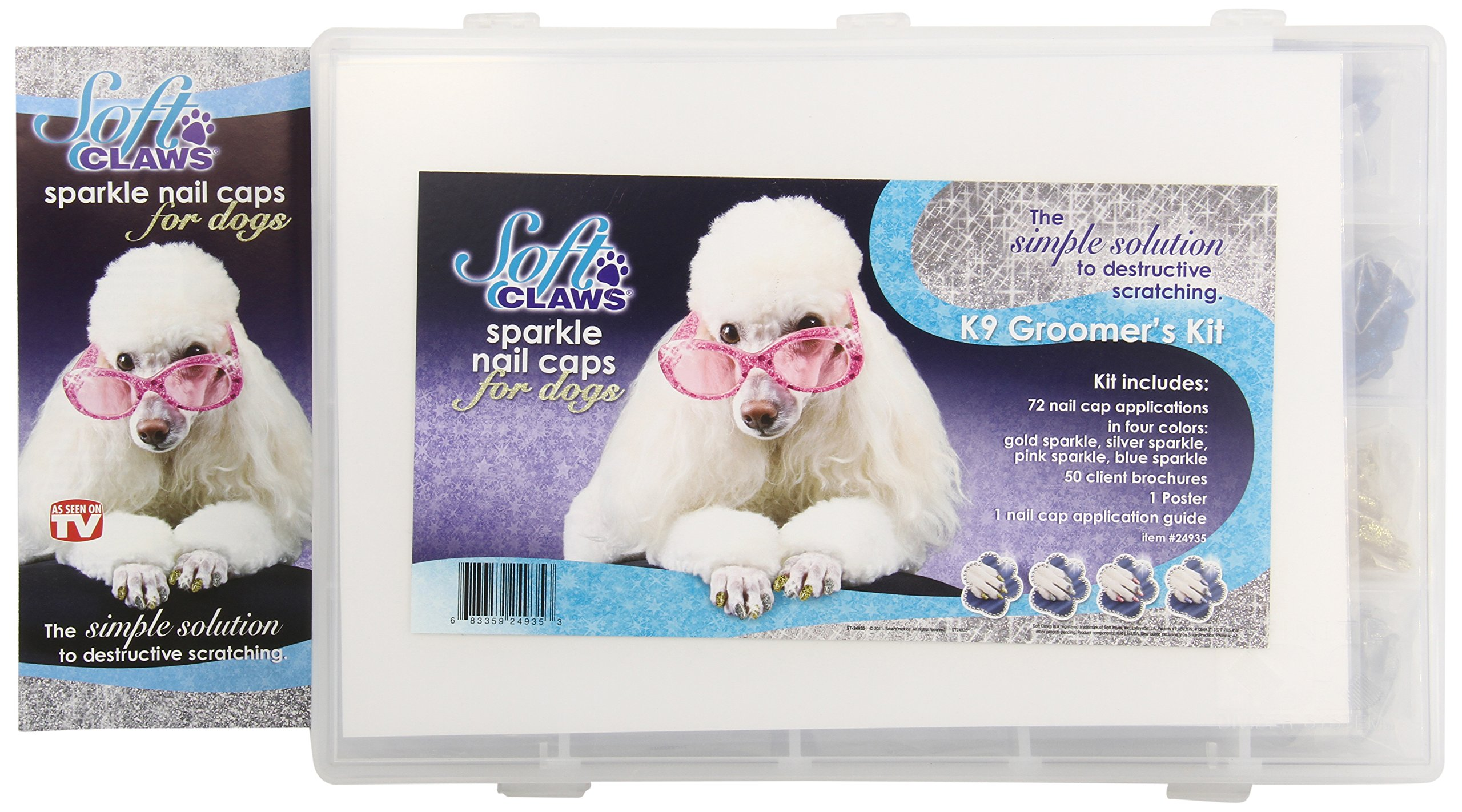 Canine Soft Claws Pet Nail Caps Mixed Sparkle Kit, Small by Soft Claws