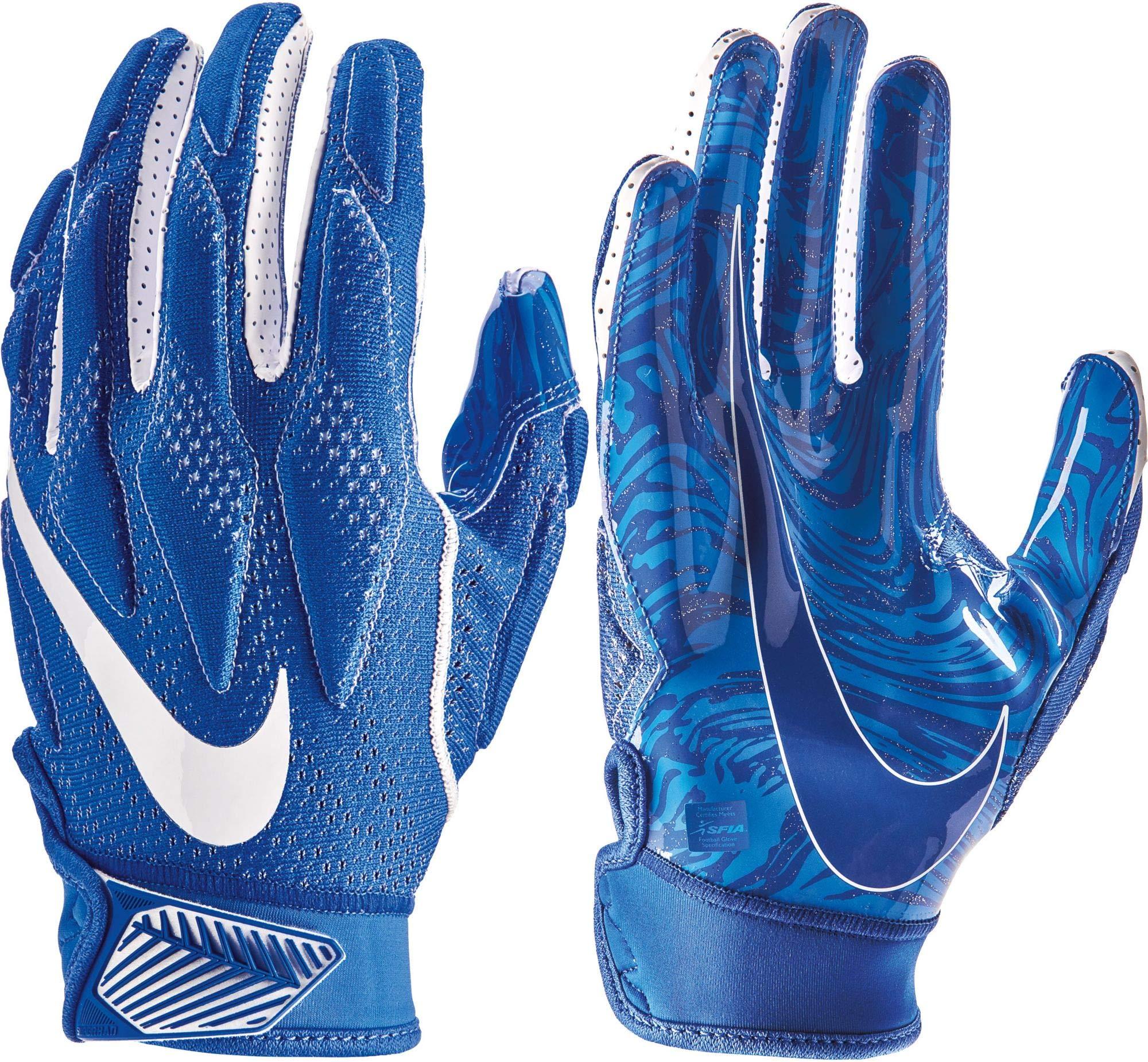 NIKE Men's Super Bad 4.5 Football Gloves (Royal, Medium)