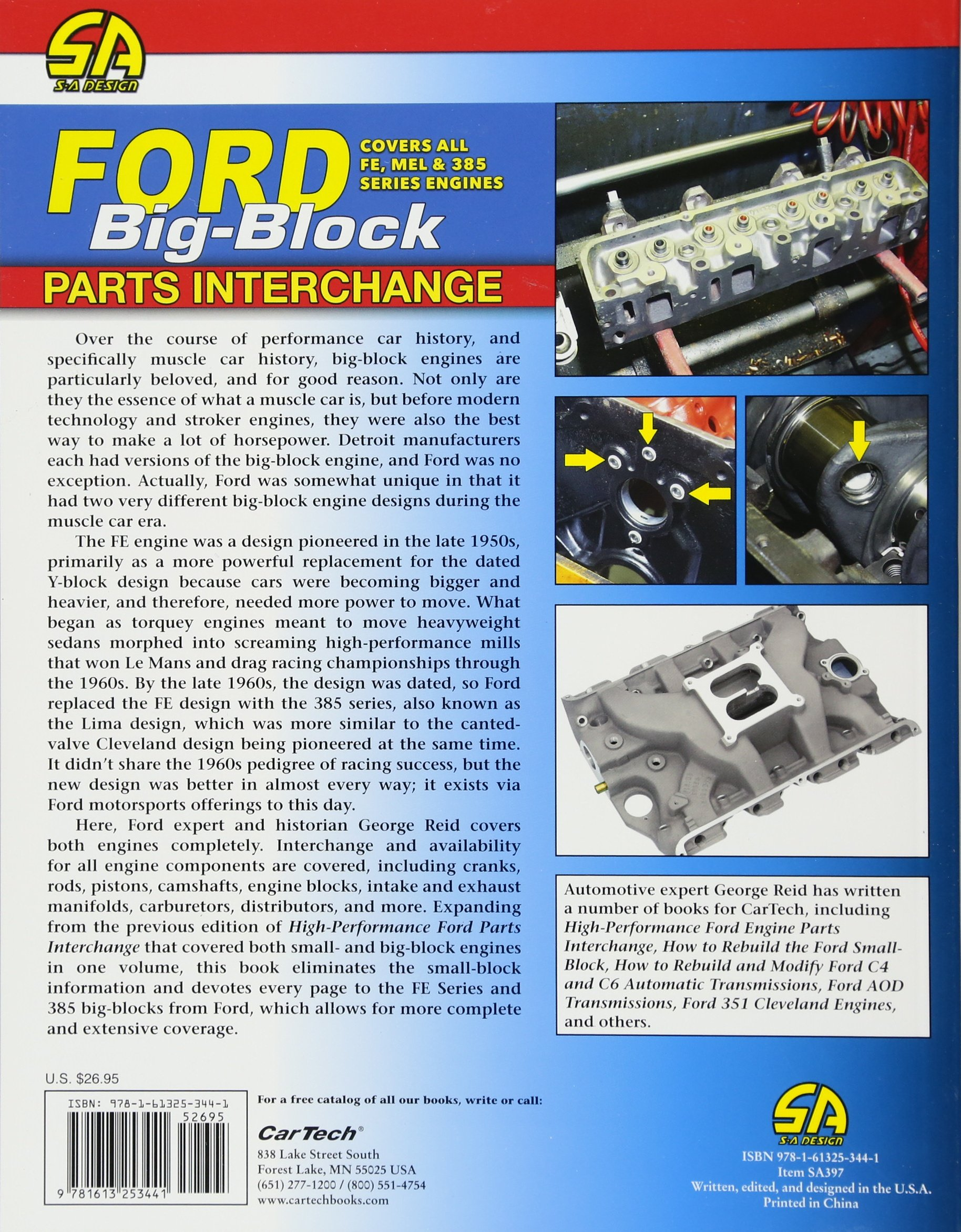 Ford Big Block Parts Interchange George Reid 9781613253441 Amazon Pistons Books