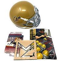 $109 » Quenton Nelson Notre Dame Fighting Irish Signed Autograph Mini Helmet JSA Witnessed Certified