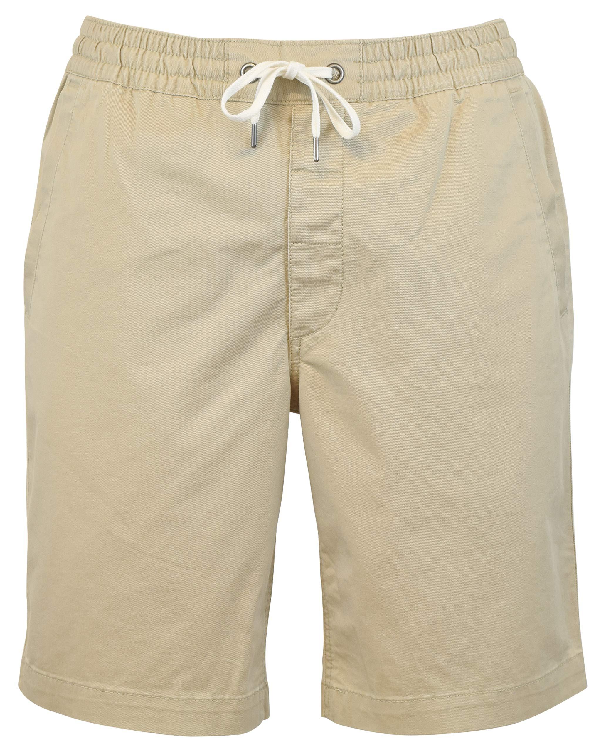 Polo Ralph Lauren Mens Classic Fit 9'' Drawstring Shorts, Beige, Medium