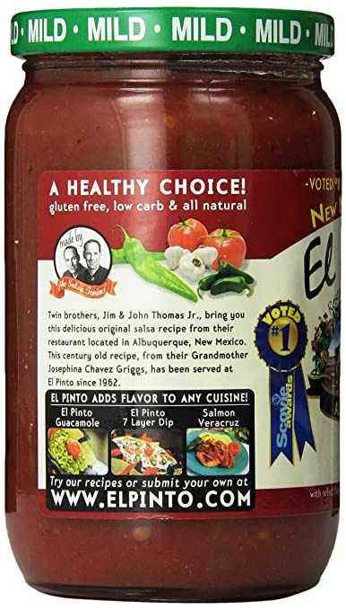 Amazon.com : El Pinto Hot Salsa, 16 Ounce (Pack of 6) : Grocery & Gourmet Food