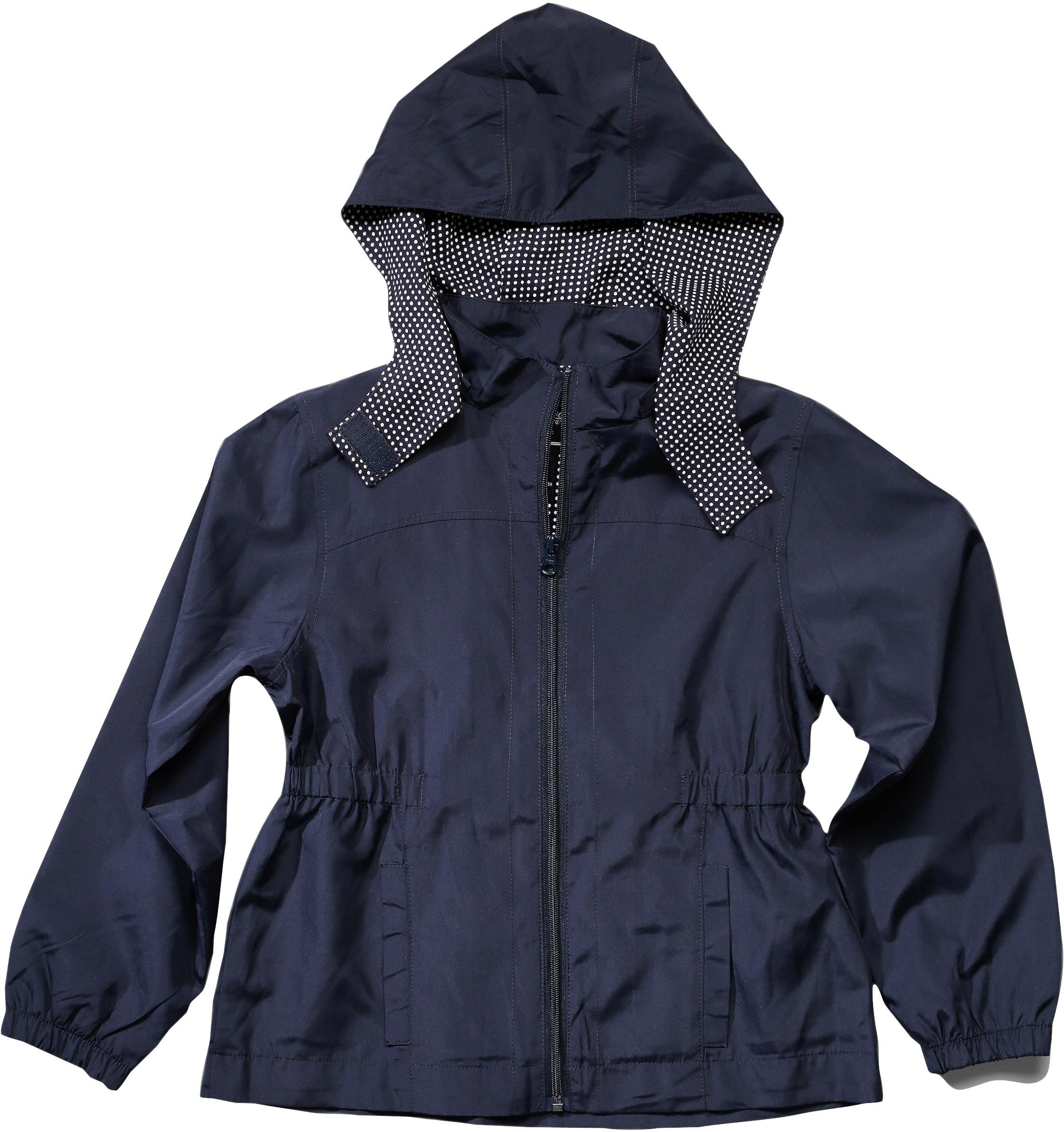 French Toast School Uniform Girls Pongee Jacket w/Detachable Hood, Navy, X-Small (4/5) by French Toast