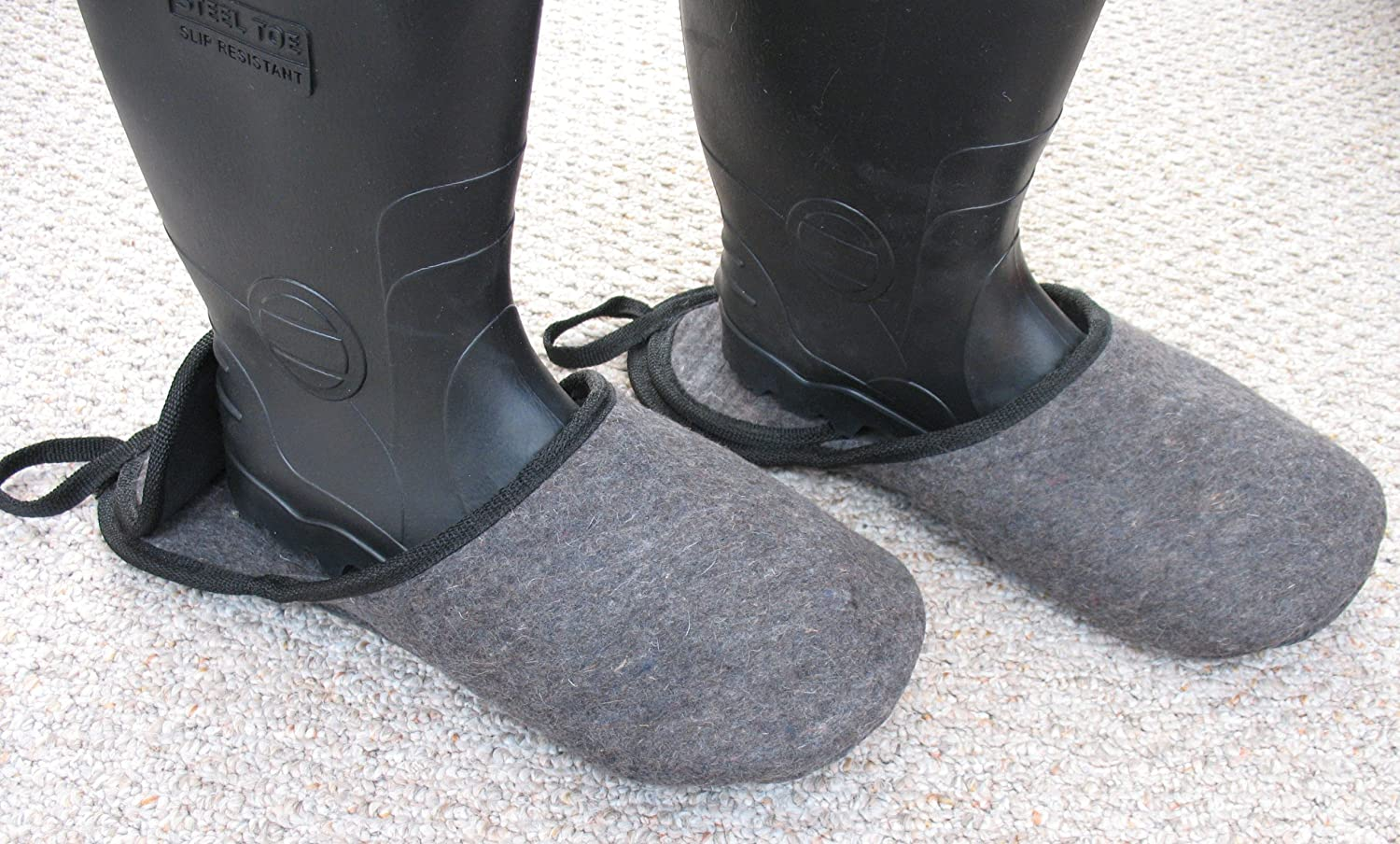 Medium Fits Mens Size 6-9 or Womans 6-10 Perfect for guests Keep your floors clean without removing your shoes Great for quick in and outs Shoes and Boots Slippers -Bigfoot Pushovers Overshoe Pullovers