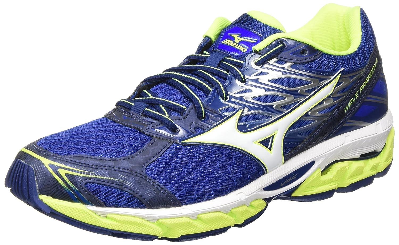 Mizuno Wave Paradox, Zapatillas de Running para Hombre 50 EU|Multicolor (Blue Deptths/White/Safety Yellow)
