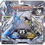 Giochi Preziosi 70245551 Monsuno Battle Pack 2 Evo y Crossbolt - 2 figuras, 2 núcleos y 6 cartas