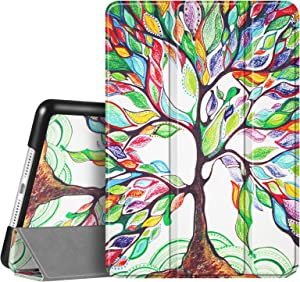 Fintie Case for New iPad 8th Gen (2020) / 7th Generation (2019) 10.2 Inch - Lightweight Slim Shell Standing Hard Back Cover with Auto Wake/Sleep Feature, Love Tree