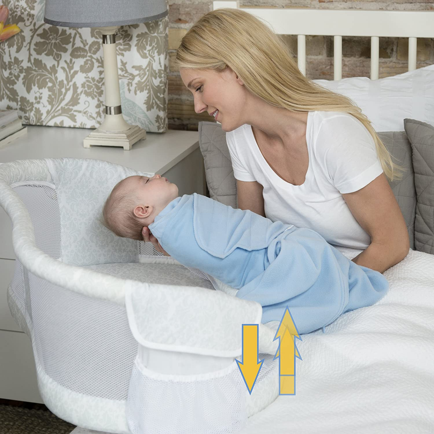 Baby bed that connects to parents bed - Amazon Com Halo Bassinest Swivel Sleeper Premiere Series Bassinet Baby