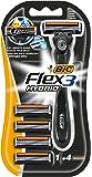 Bic Easy Flex - Cuchilla de afeitar de triple hoja (recargable, cabezales intercambiables)