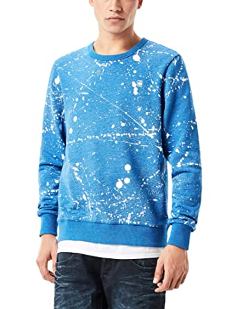 Amazon.com: G-Star Men's Splatter Core Blue Sweater: Clothing