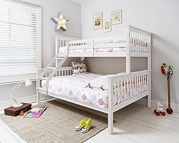 Etagenbett Kinder Weiß : Kinder hochbett etagenbett kiefer weiß lackiert cm top