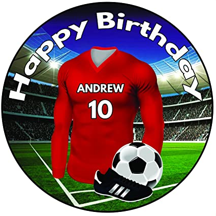 Personalised Football Birthday Cake Topper - 8
