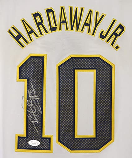 super popular c8768 6faea Tim Hardaway Jr. Michigan Wolverines Signed Autographed ...