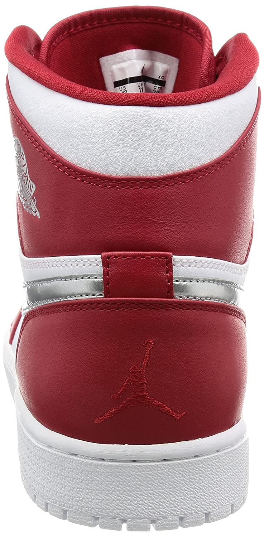 GYM RED//METALLIC SILVER-WHITE Nike AIR JORDAN 1 RETRO HIGH mens basketball-shoes 332550-602/_12