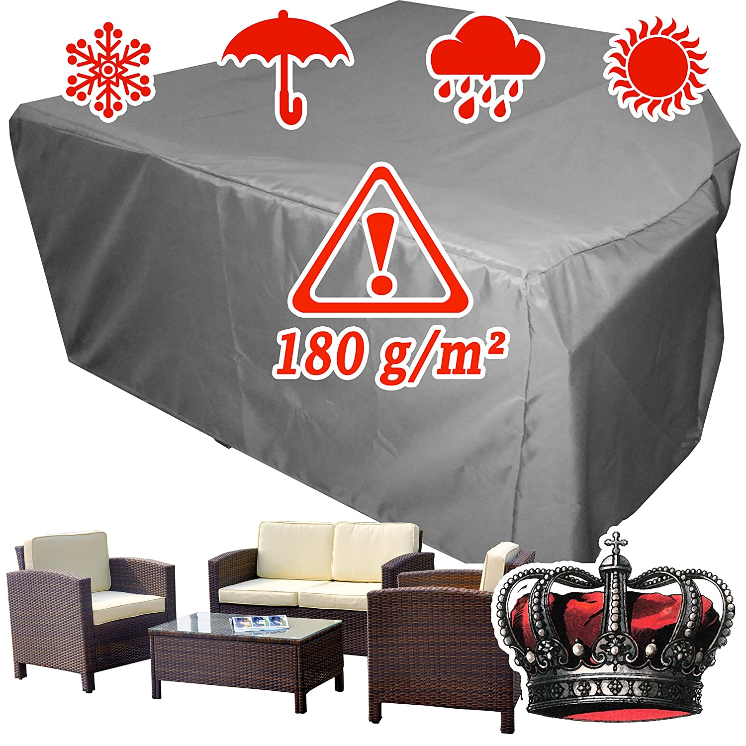 Amazon.de: winterfeste LUXUS Gartenmöbel Lounge Möbel Set ...