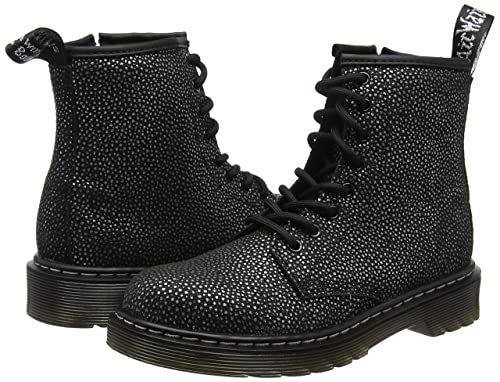 6220de9b702 Dr. Martens Delaney Met Black Silver Pebble Metallic