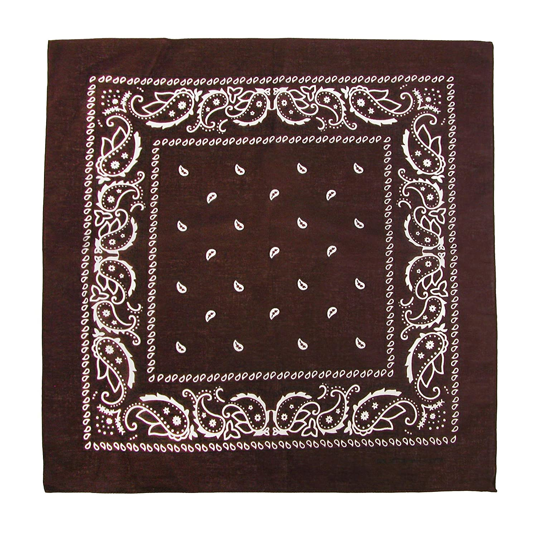 CTM/® Cotton Paisley All-Purpose Bandana Red