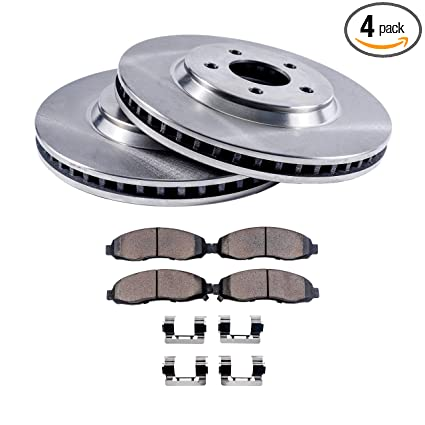 Detroit Axle - Front Brake Rotors & Ceramic Pads w/Clips Hardware Kit  Premium GRADE for 04-06 Lexus RX330-07-09 Lexus RX350 Japan Built - 06-08  Lexus