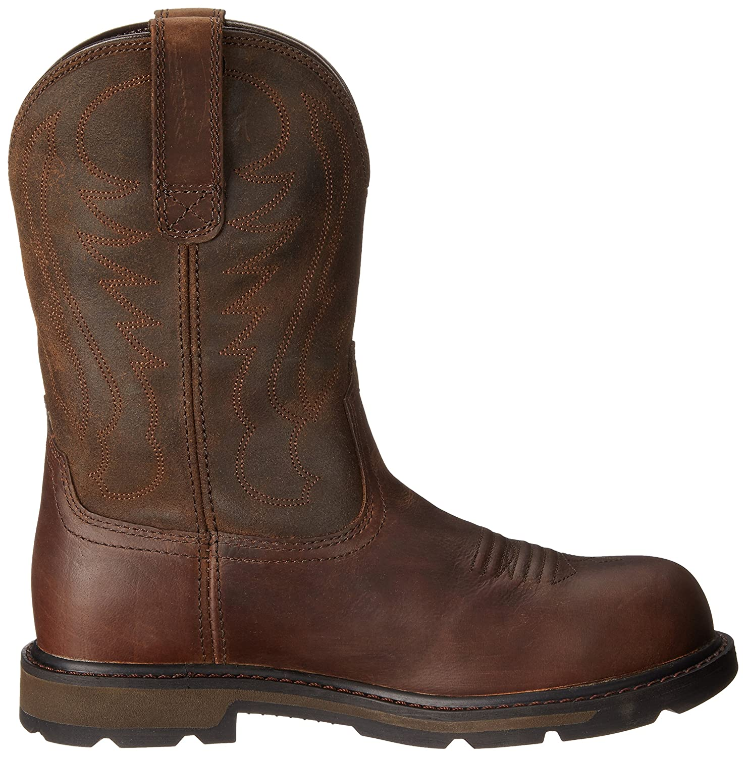 e9cef09e7d8 Amazon.com  Ariat Work Men s Groundbreaker Pull-on Steel Toe Work Boot   Shoes