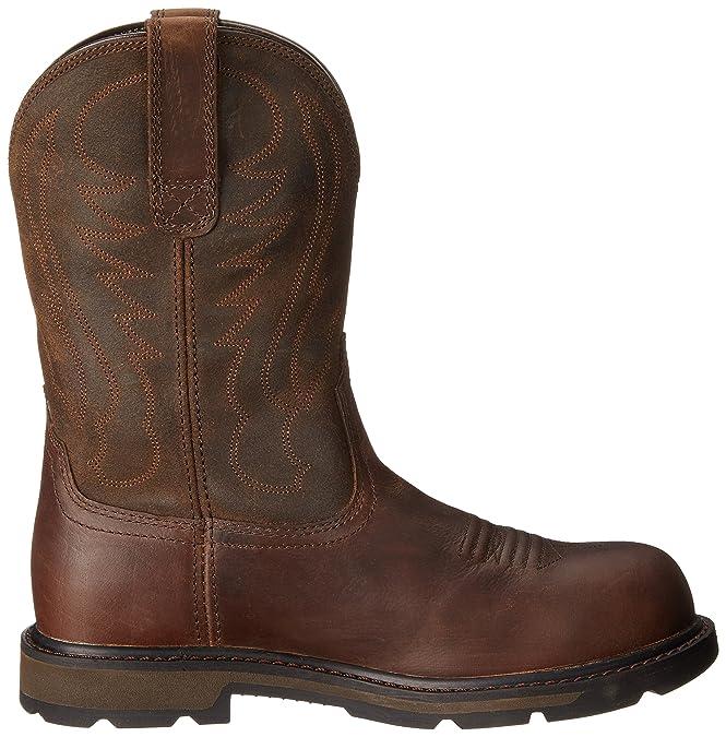 Ariat Groundbreaker fácil de poner Punta Acero Botas de Trabajo: Amazon.es: Zapatos y complementos