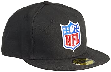 New Era NFL Shield Logo 59FIFTY Fitted Football Cap Black  Amazon.co ... 18c0c923eb5
