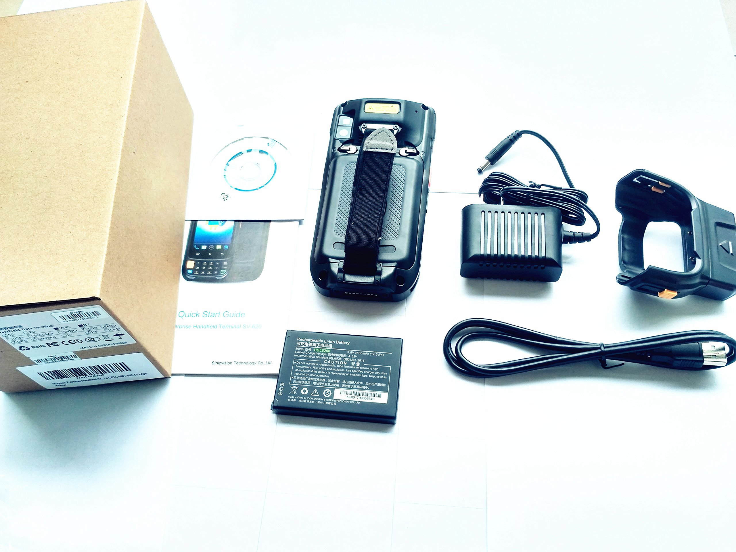 Rugged Extreme Handheld Mobile Computers, Data Terminal With Motorola Symbol 1D Laser Barcode Scanner / GPS / Camera,  Android 5.1 OS, Qualcomm Quad Core CPU, WiFi 802.11 b/g/n by Cruiser (Image #7)