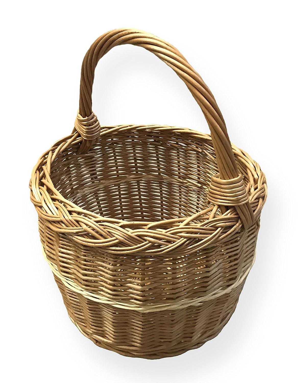 Panier à provisions rond, diamètre :  29 cm x 22 cm