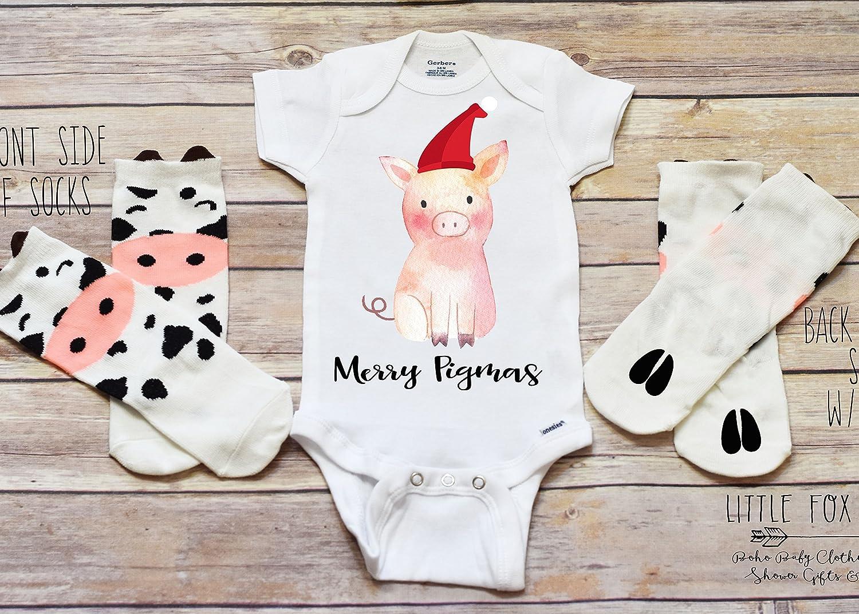 Christmas Onesie®, Pig Onesie®, Farm Onesie®, Merry Pigmas, Funny Onesie®