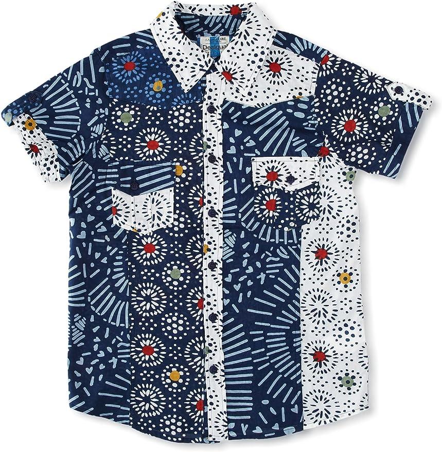 Desigual Camisa UBA Azul 13-14 años (158/162 cm): Amazon.es: Ropa y accesorios