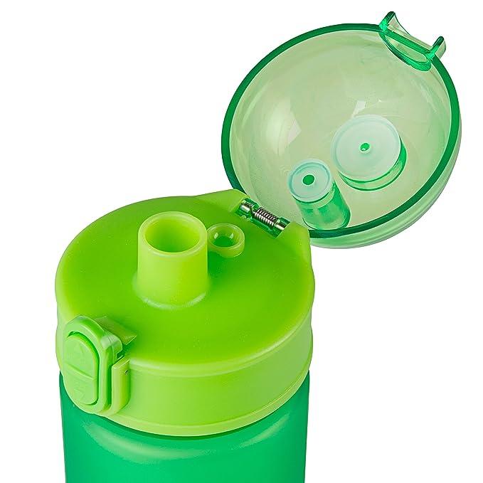 AceCamp Tritan botella, 350 ml, sin BPA), agua de botella, deportes, caño seguro, Pop Up cierre, Verde, 1550: Amazon.es: Deportes y aire libre
