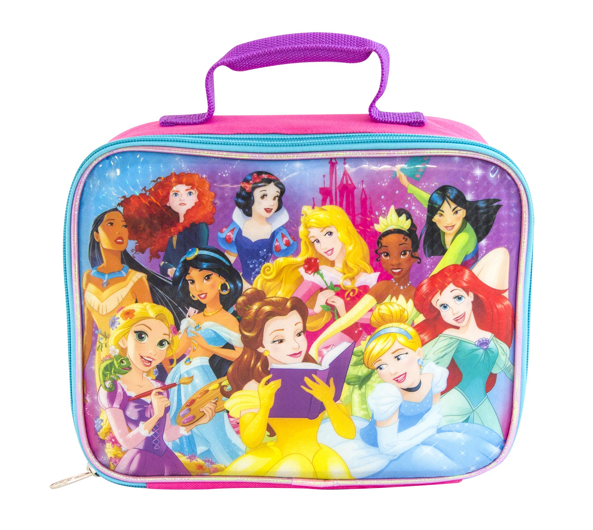 c859424813b Amazon.com  Disney PR29265-SC-PK00 Princess Insulated Lunch Kit One Size  Pink  Kitchen   Dining