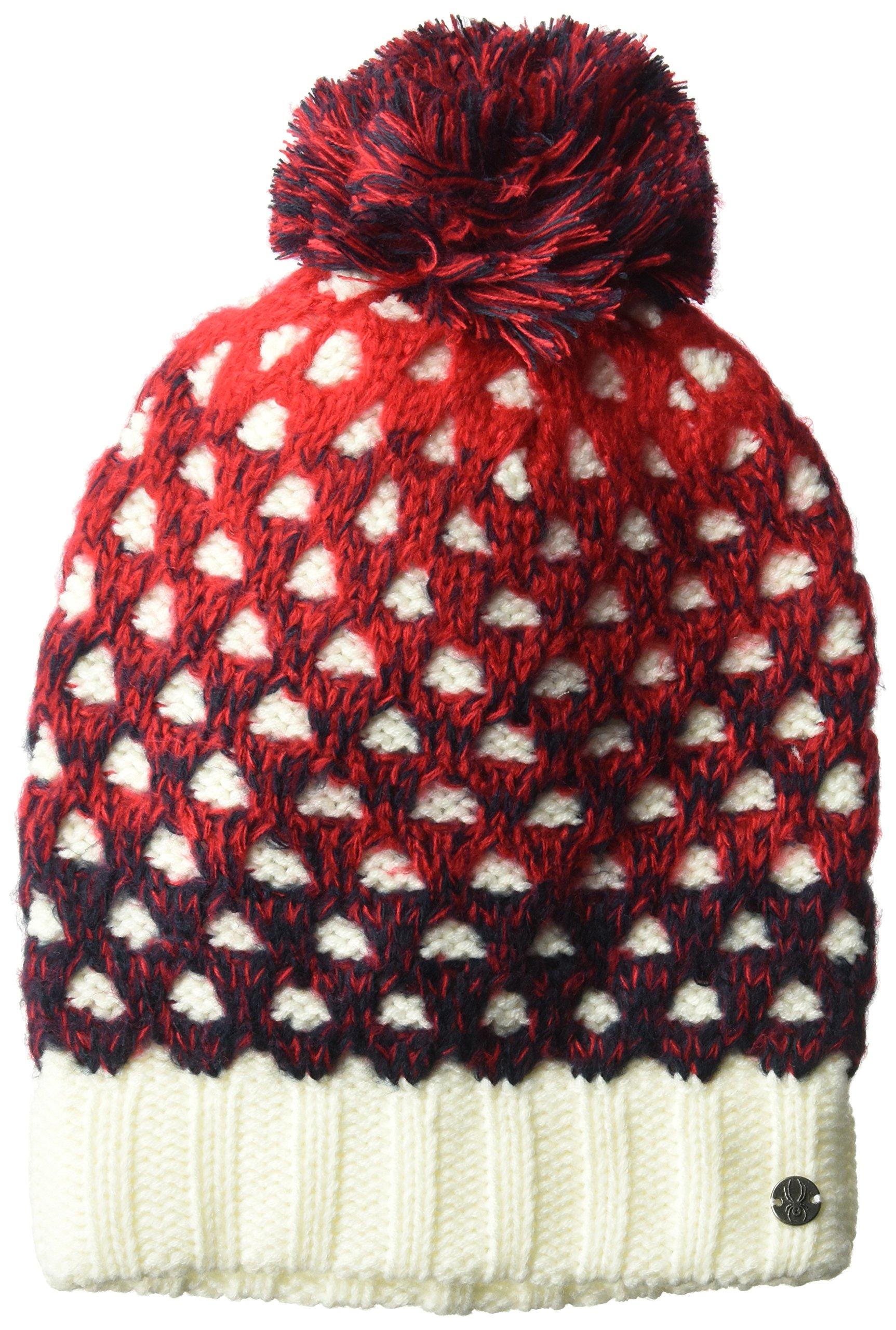 Spyder Women's Vanish Hat, White/Red/Frontier, One Size