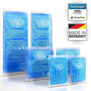 Lacari ® 3 tamaños diferentes compresas de frío – Compresas de frío y calor de gel – Bolsa de refrigeración adecuada para el microondas – Compresas ...