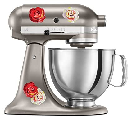 Pleasing Kitchen Aid Mixer Decal Of Watercolor Roses Extra Rose Pack Artistic Full Color Post Impressionist Painted Style Colorful Flowers Interior Design Ideas Gresisoteloinfo