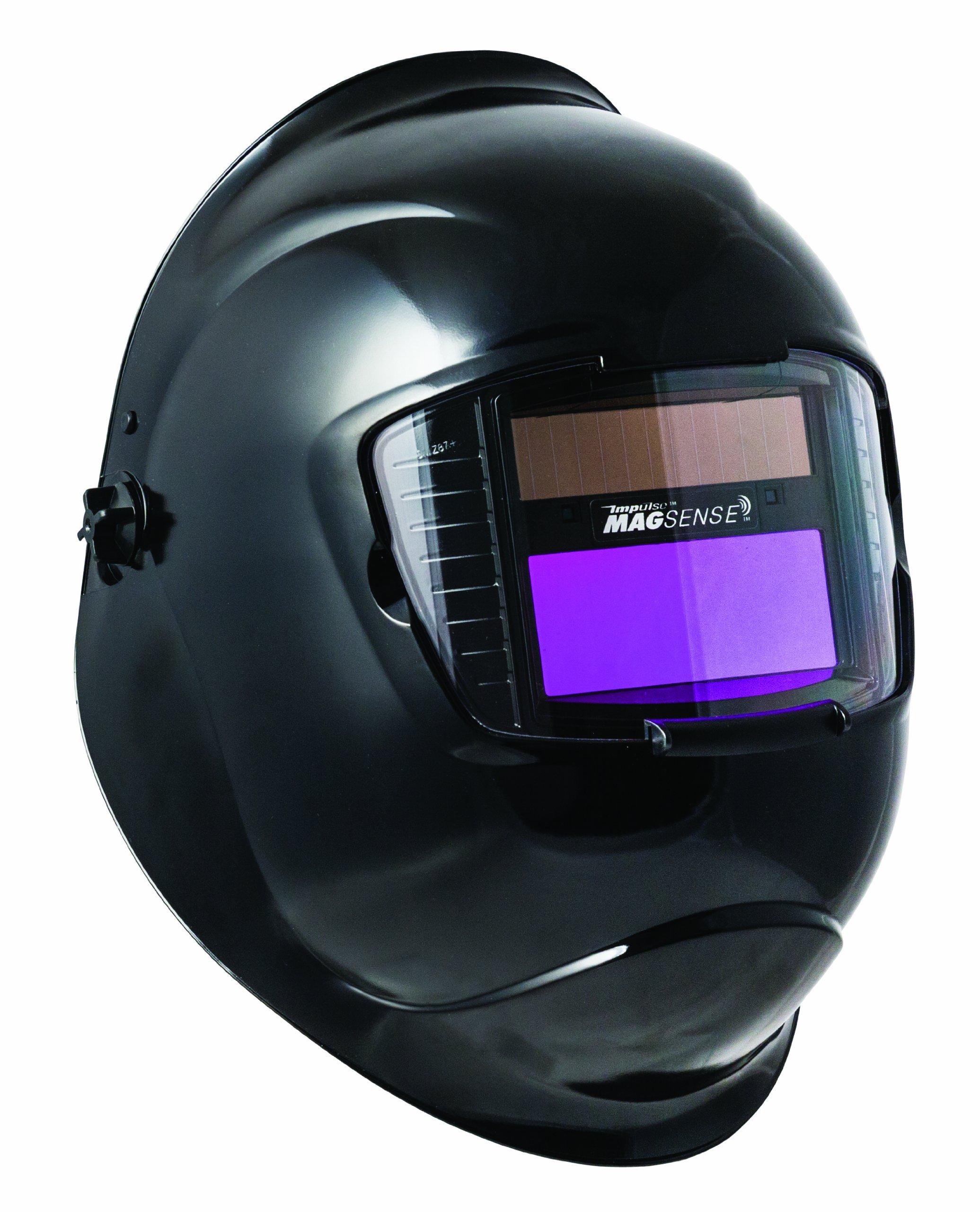 Sellstrom 41300-611 Galaxy Welding Helmet with 27611 Variable Shade,  9-13 Auto-Darkening Filter, 90 x 110 mm, Black