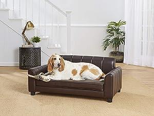 Enchanted Home Pet Ludlow Pet Sofa - Pebble Brown